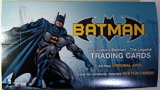 Batman Legend Trading Cards Unboxing Cryptozoic - Opening packs of cards