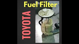 Fuel filter replacement in a Toyota camry - YouTube   2008 Camry Fuel Filter Location      YouTube