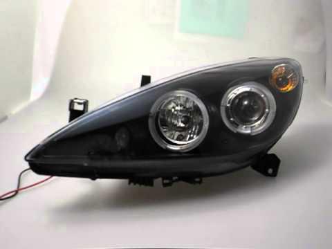 angel eye peugeot 307 led standlichtringe black sw tuning. Black Bedroom Furniture Sets. Home Design Ideas