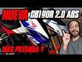 Nueva Honda Cb190r 2.0 Abs   Mas Potencia? #fullgass