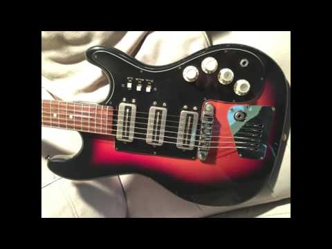 Vintage Hofner guitar and amp.