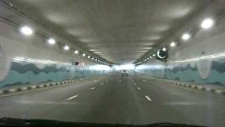 Driving the tunnel to Palm Jumeriah Atlantis