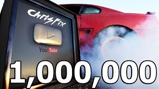 Crazy 1 Million Subscriber BURNOUT (Gold Play Button)!!!