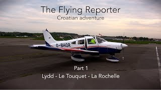 Flying in Europe Part1, The Flying Reporter, PA28