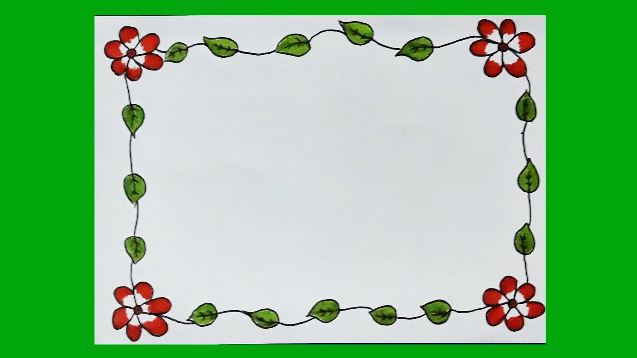 Flower Border Design On Paper Floral Border Design For Projects