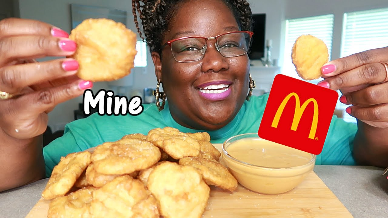McDONALD'S CHICKEN McNUGGETS MADE AT HOME RECIPE + MUKBANG | Asmr 실제 요리 소리