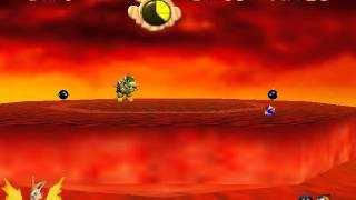 Juguemos a Super Mario 64 #Parte 16 # 2da batalla con bowser y al 2do mundo de hielo.
