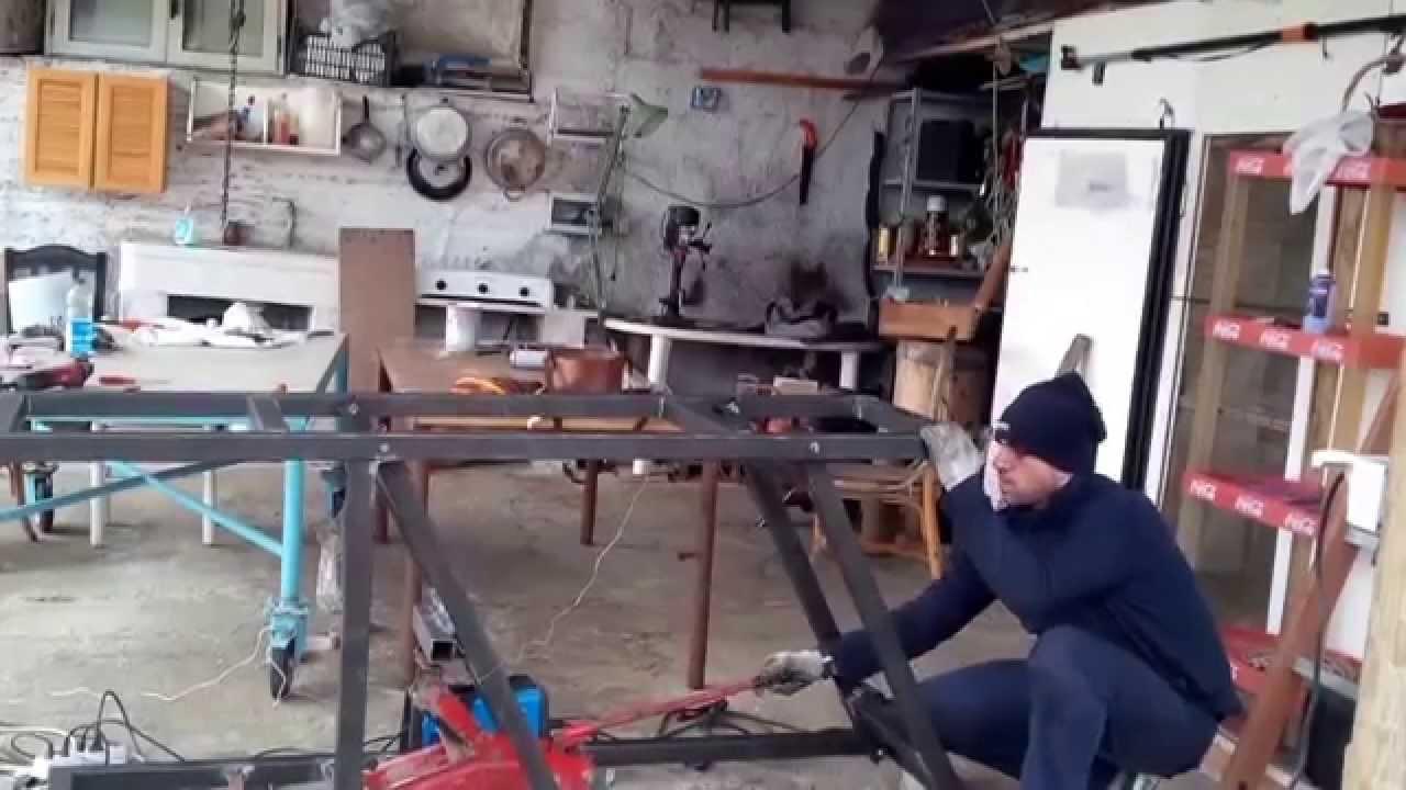Tavolo Da Lavoro Per Moto : Ponte sollevamoto alzamoto fai da te youtube