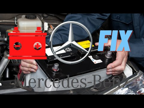 ▶️How to Change A Mercedes Starter Battery Safely + Clear Battery Warning  Light SL500 S550 CLS550