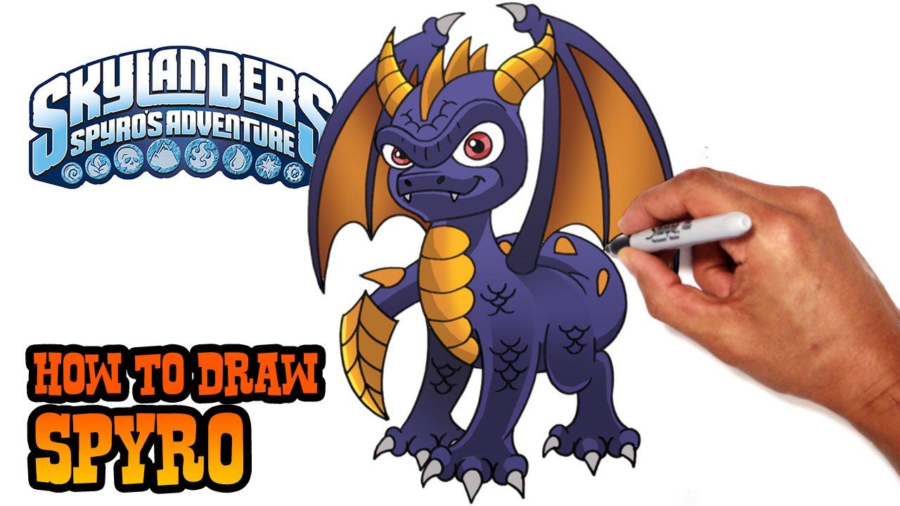 how to draw spyro skylanders