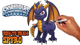 How to Draw Spyro | Skylanders