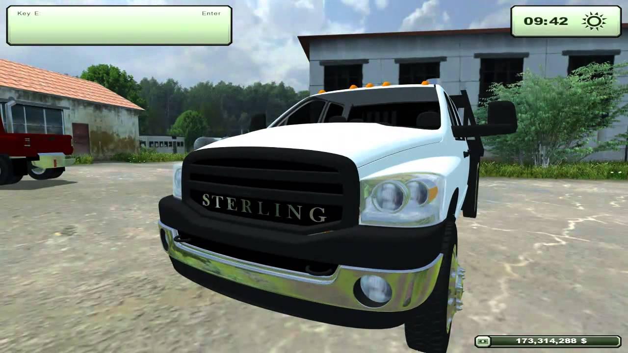 Farming simulator 2013 sterling 5500 dodge 3500 ford f 250 trucks youtube