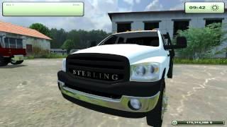 Farming Simulator 2013- Sterling 5500, Dodge 3500, Ford F-250 Trucks.