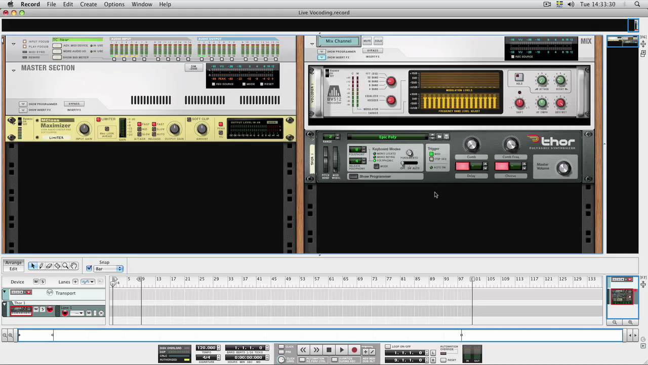 How to Use Reason's vocoder to record with live audio input