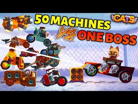C.A.T.S 50 MACHINES VS. 1 BOSS IN GRAND PRIX!  Crash Arena Turbo Stars