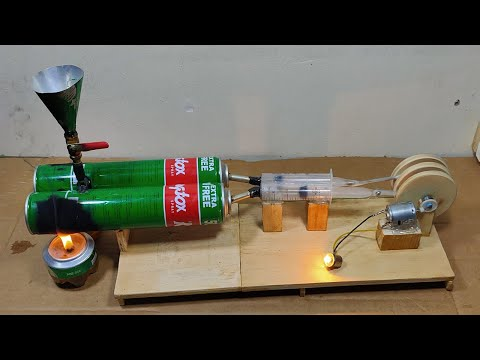 Home Made Steam Engine Free Energy electricity | How to Make Steam Engine In Home
