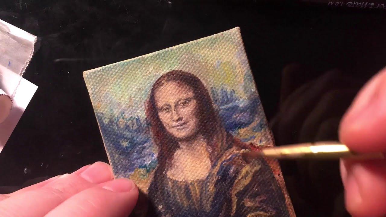 Mona Lisa Miniature Oil Painting Speed Paint Youtube