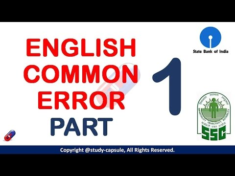English Common Error Part 1 for SSC MTS, CGL, CPO & Banking  Exams - Study Capsule