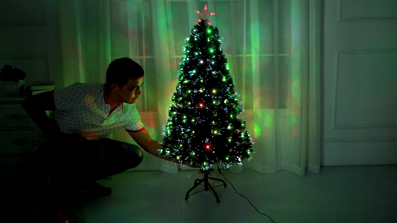 Fibre Optic Led Christmas Tree by HISP UK - YouTube