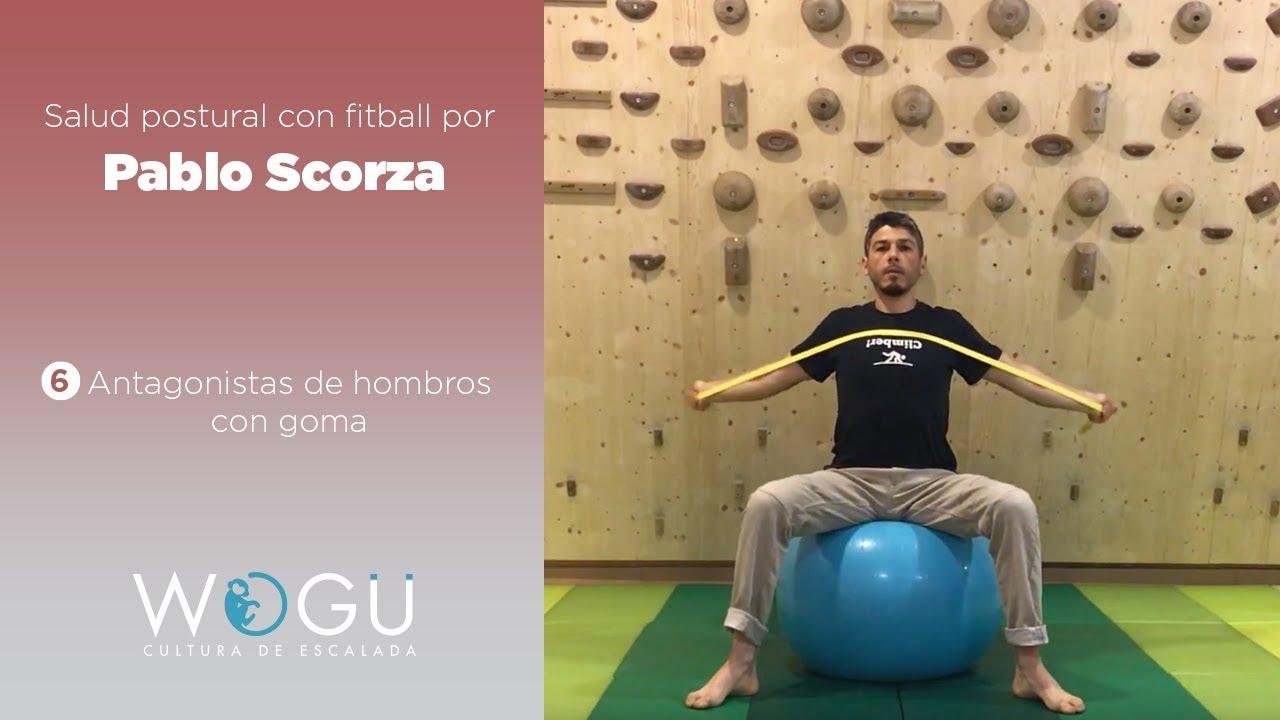 Salud portural con fitball por Pablo Scorza   #6 Antagonistas de hombros con goma