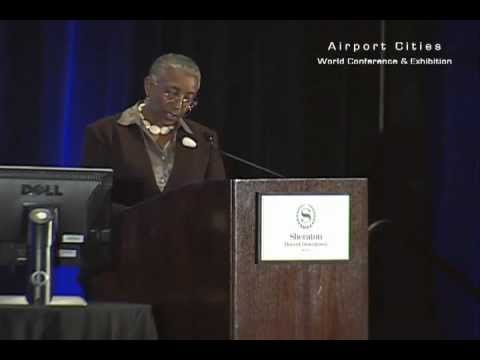 Angela Gittens, director general of Airports Council International (ACI) World opens ACE 2012