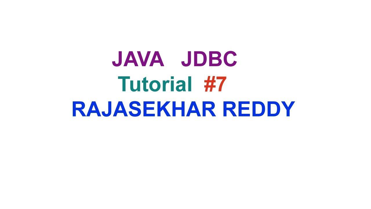 Jdbc tutorial part-7| Advanced Java Tutorial | Updating