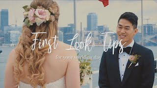 First Look Tips For Your Wedding