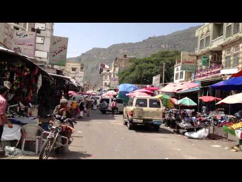 Yemen Life HD Motorcycle view Part4 اليمن - اب Ibb Streets