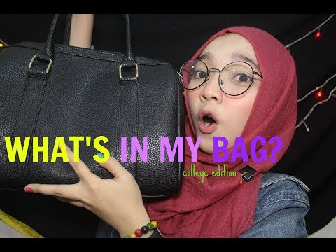 WHAT'S IN MY BAG? (college edition) | Indonesia | Annisa alkhumairah
