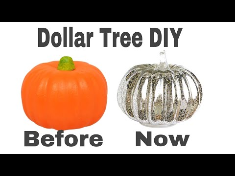 How to mercury glass effect foam pumpkins|DIY GLAM Halloween Decor