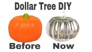 How to mercury glass effect foam pumpkins|DIY GLAM Halloween Decor