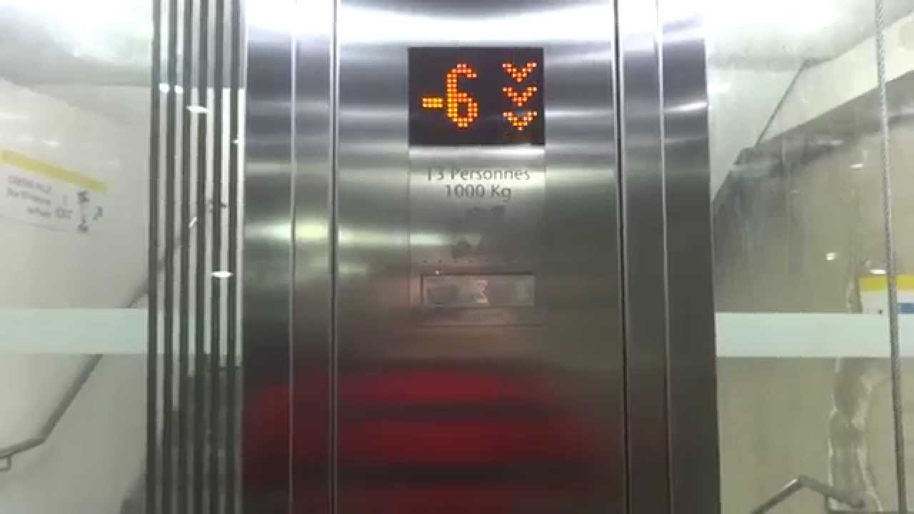 2013 kone monospace mrl traction glass elevators centre for Garage nice centre