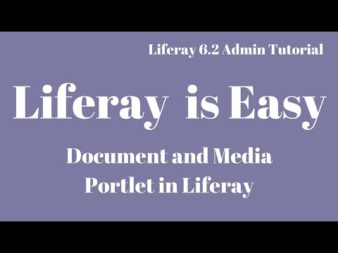 Liferay Tutorial 04 :- Document and Media Portlet in Liferay