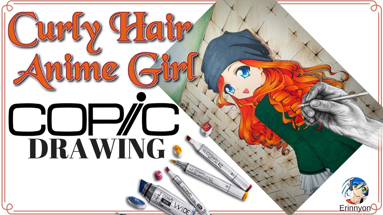 Copic Marker Coloring Anime/Manga Girl With Curly Hair