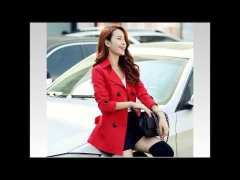 4T - Áo Khoác Kaki Nữ Màu đỏ Phối Nút Mã A7829