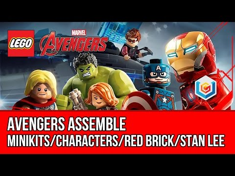 LEGO Marvel's Avengers Avengers Assemble Walkthrough (All Minikits, Red Brick, Stan Lee)