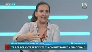 Gabriela Michetti se quejó de que Cristina Kirchner no cumple con los tiempos en el Congreso