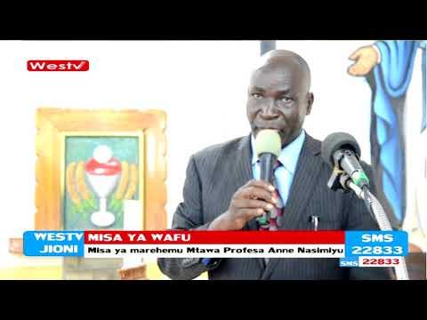 Ibada ya wafu ya Mtawa Prof Ann Wekesa Nasimiyu yafanyika katika kanisa lla Bungoma