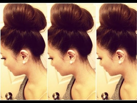 How To Big Hair Bun Tutorial Hausofcolor Youtube