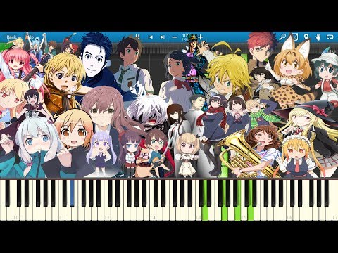 Anime Medley 3 | Piano | Synthesia