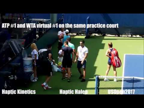 Haptic Simona Halep and Rafa Nadal on same court - 2017 [FullHD]