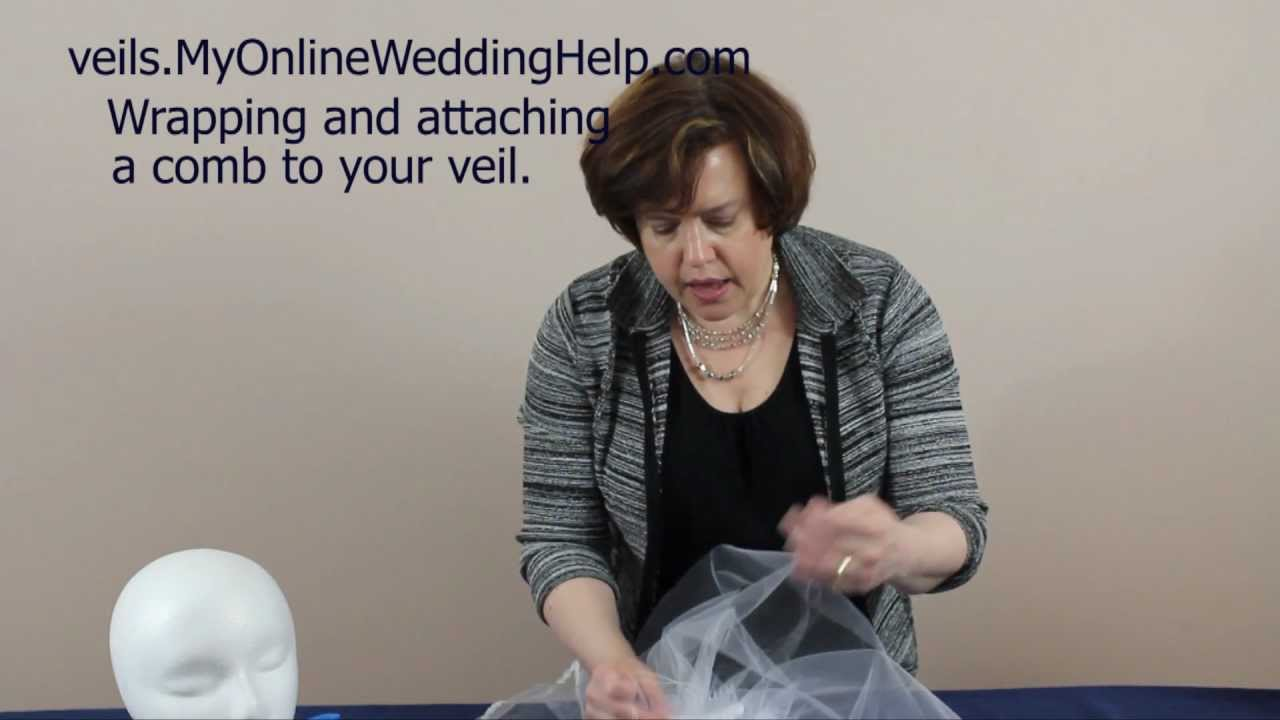 Wring Attaching The Comb Step 5 In Making A Bridal Veil Series You