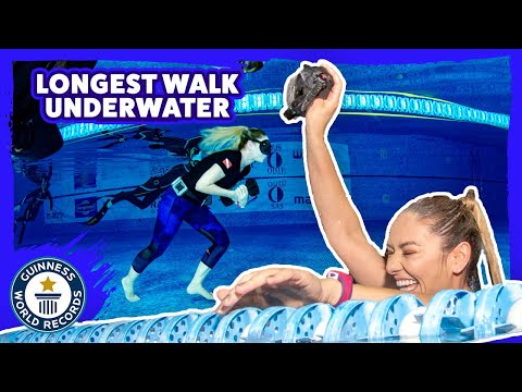 Longest underwater walk with one breath - Guinness World Records