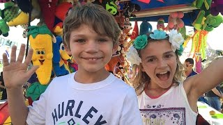 It was a fabulous day at the county fair! We saw a dog show, pig ra...
