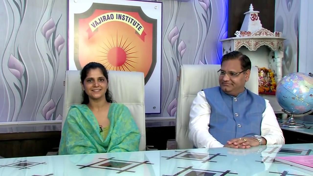 Anu Kumari with her Mentor S S  Chaudhary Sir (Vajirao & Reddy Institute,  Delhi)