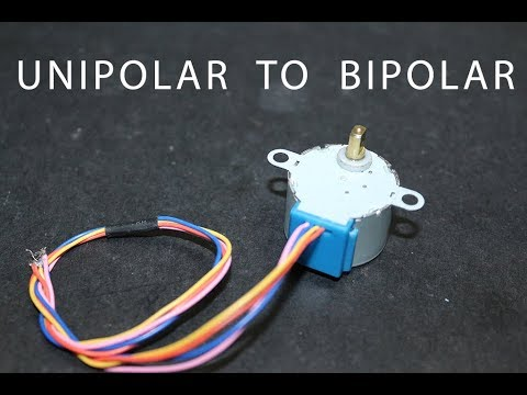 How to convert unipolar stepper motor into bipolar stepper for Unipolar and bipolar stepper motor
