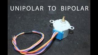How to convert Unipolar stepper motor into Bipolar stepper motor