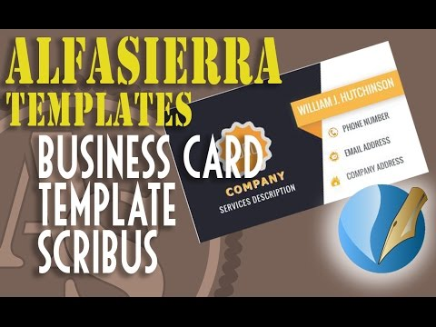 Scribus Template Business Card