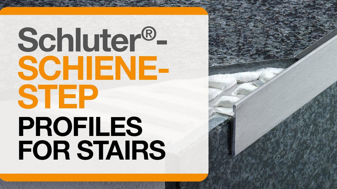 How To Install Tile Edge Trim On Stairs SchluterSCHIENESTEP - Bullnose stair step tile