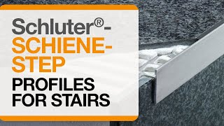 How to install tile edge trim on stairs: Schluter®-SCHIENE-STEP profile